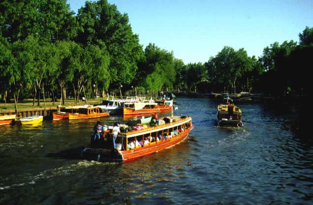 экскурсия в Тигре, городок на воде