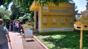 Парк «Parque Rivadavia» в Буэнос-Айресе, район Caballitо