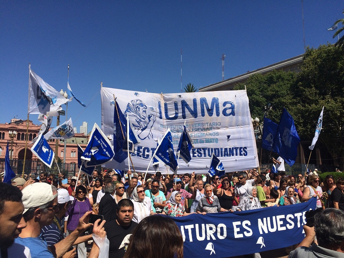 """Движение """"Матери майской площади"""", созданное ещё в 80ые года."""