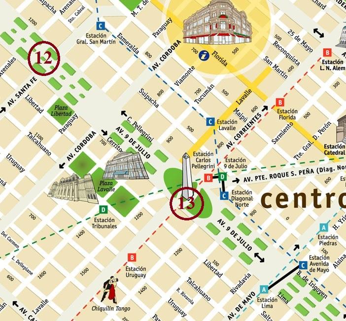 mapa centro 9 de julio